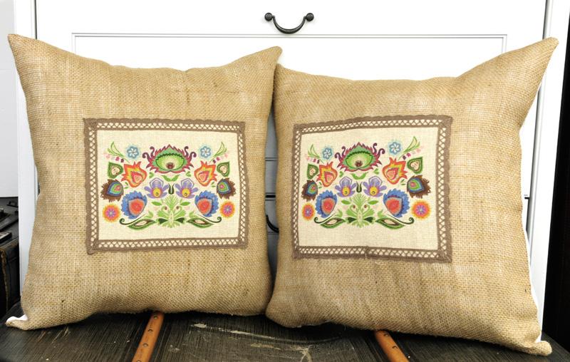 Poduszka Ludowa Kwiaty Poduszki Dekoracyjne Poduszka
