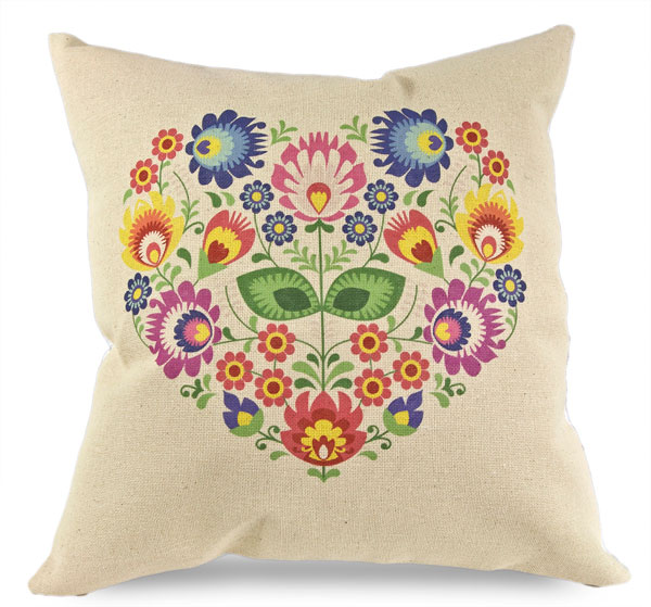Poduszka Serce Kwiat Poduszki Dekoracyjne Poduszka